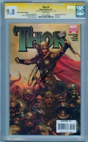 Thor #1 Retail Variant CGC 9.8 Signature Series Signed Chris Hemsworth Thor Movie Actor Marvel comic book